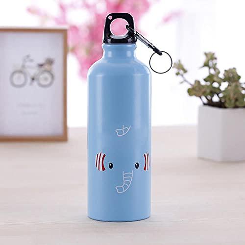 500ml Escuela Senderismo Botella de agua para niños al aire libre Botella de agua Diseño moderno Animales encantadores Portátil Deportes Ciclismo Camping Botella-ESPAÑA, 0.5L, como se muestra