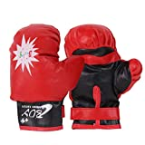 per Kids Boxing Gloves Punch Bag Muay Thai Training Mitts Adjustable for 3-10years Old Children