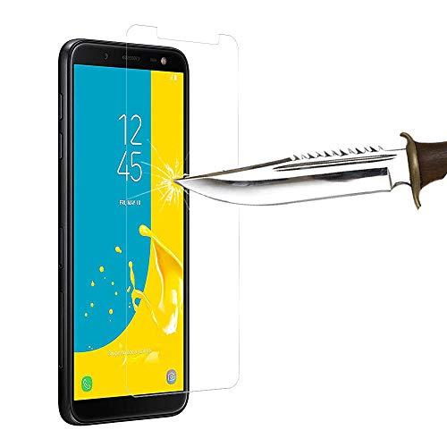 COPHONE® Verre trempé Compatible avec Le Samsung Galaxy J6 2018, Film de Protection écran Premium Anti Chocs et Casse, Anti Empreintes, Bords arrondis,dureté Max 9H Tempered Glass 2,5d