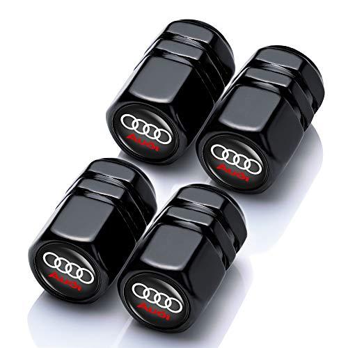 """N/A"" 4 Pcs Metal Car Wheel Tire Valve Stem Caps Suit for Audi S Line A1 A3 RS3 A4 A5 S3 S4 S5 S6 S7 S8 A6 A7 RS7 A8 Q3 Q5 Q7 R8 TT Styling Decoration Accessories"