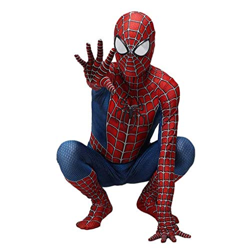 GUOHANG Spiderman Costume Enfants Adultes 3D Anime Spiderman Collant Scole Scène Scène Costume Costume Halloween Carnaval Cosplay Cosplay Disguise Party Costume,Style 6,90~100CM