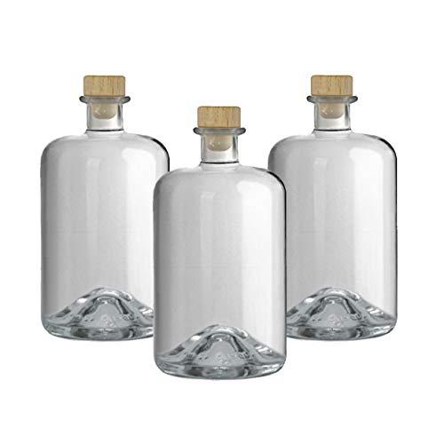 3 Apothekerflaschen 1000 ml Glas Flaschen leer Essigflaschen Ölflaschen Schnapsflaschen Likörflaschen zum selbst befüllen VERSAND INNERHALB 24 STD!