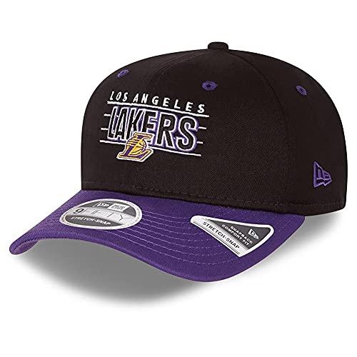 New Era Los Angeles Lakers NBA Team Black Stretch Snapback Cap 9fifty 950 S M