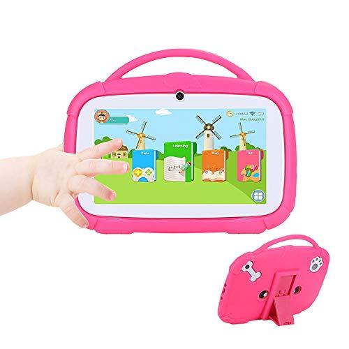 Tableta Para Niños 7 'HD | Quad Core Android 9.0 16GB | Tablet PC Con Wifi Bluetooth Cámara Dual | Control Parental Y Software Para Niños Preinstalado Para Niños Para Juegos Educativos Con Estuche