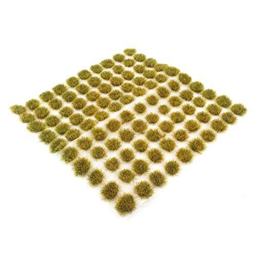 War World Scenics 4mm Abgestorbene Selbstklebende Statische Grasbüschel x 100 - Modellbau Modellbahn Landschaftsbau Diorama Miniatur Tabletop Spiele Wargame Modelleisenbahn Geländebau