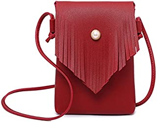 2018 New Women's Shoulder Bag Small Bag Female Summer Small Fresh Simple Fashion Soft Leather Simple Wild (Color : Red, Size : S)