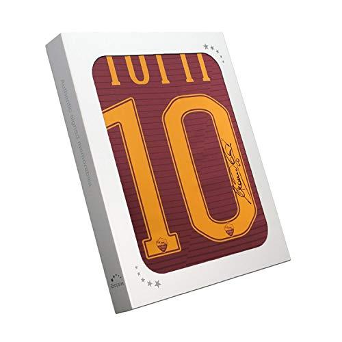 Esclusiva Maglietta Memorabilia Francesco Totti con Firma AS Roma 2016-17, Stagione Finale in Confezione Regalo