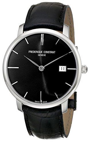 b67b27550fb Frederique Constant Men s FC306G4S6 Slim Line Slim Line Mens Black Dial  Automatic Watch Watch