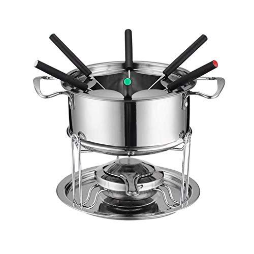 VAHIGCY Electric Fondue Maker Stainless Steel Boiler Pot for Melting Chocolate Candy and Candle Making IceCreamChocolateCheeseHotPotMeltingPotFondueSetKitchenAccessories