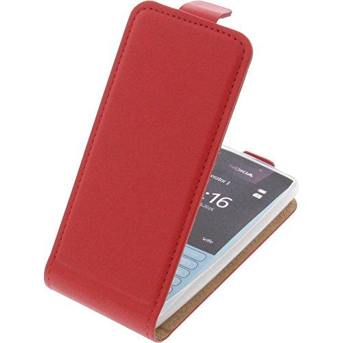 Tasche für Nokia 216 Smartphone Flipstyle Schutz Hülle rot
