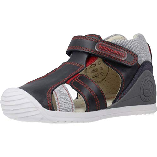 BIOMECANICS - Sandalia Velcro Puntera Cerrada Cuero Niños Color: Marino Talla: 21