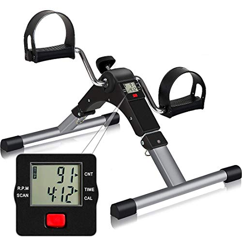 TABEKE Pedal Exerciser, Sitting Pedal Exerciser for Arm/Leg Workout, Portable Bike Pedal Exerciser with LCD Display(Battery not Included) thumbnail image