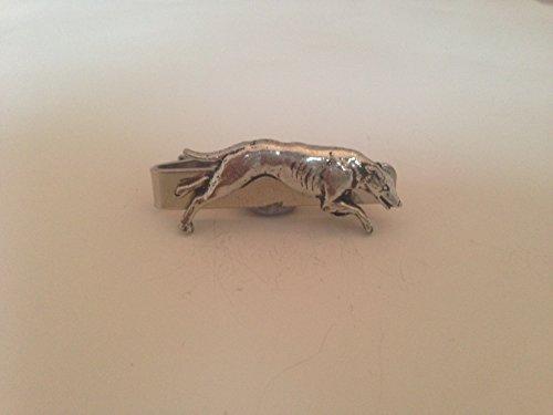 Greyhound D19 English Pewter emblème sur une pince à cravate 4 cm fait à la main à Sheffield Livré avec prideindetails Boîte Cadeau