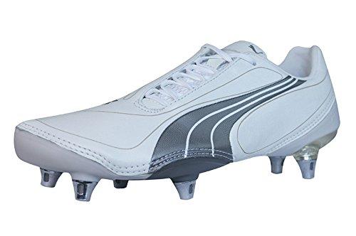 PUMA V1.08 K SG Mens Leder Fußballschuh/Cleats - weiß - Size EU 40