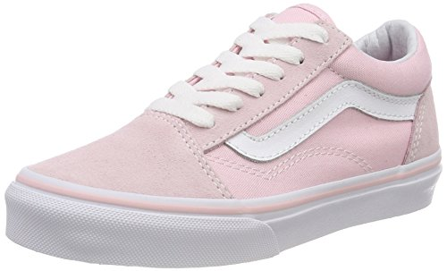 Vans Unisex-Kinder Old Skool Sneaker, Pink (Suede/Canvas), 34 EU