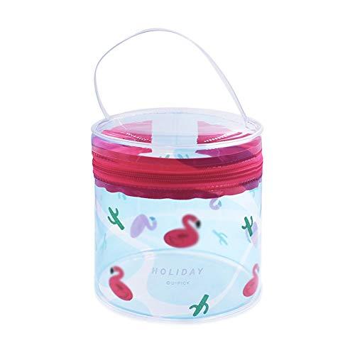 Transparent Sac Cosmétique PVC Seau Étanche Sac Portable Femme Wash Portable Voyage Rangement Extérieur Multifonctionnel (Color : Color one)