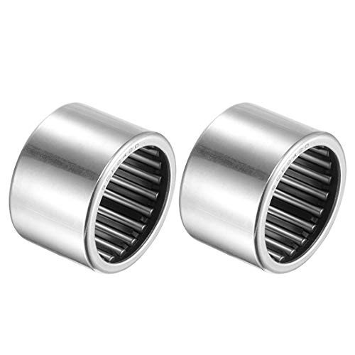 uxcell SCE2420 Needle Roller Bearings 1-1/2-inch Bore 1-7/8-inch OD 1-1/4-inch Width Chrome Steel Open End 2pcs