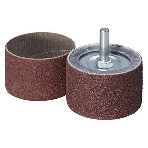 Wolfcraft 2038000 cilindro abrasivo con 2 bandas, vástago 6 mm PACK 1, 45x30mm