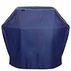 COMPATIBLE WITH MAJOR BRANDS: Whether your grill is charcoal, propane, electric, or gas -or made by Weber, Charbroil, Kenmore, or Spirit - our versatile covers will easily fit small or medium 4-burner barbeques. WEATHER PROTECTED BUILD: Our 600d poly...