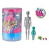 Barbie Color Reveal coffret Pyjama Party, poupée et mini-poupée avec plus de 50 surprises dont figurines animaux et accessoires, jouet pour enfant, GRK14