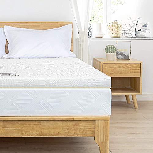 BedStory orthopädische 7-Zonen-Matratzenauflage aus Kaltschaum (Größe 160 x 200 x 5cm), Atmungsaktiv Matratzentopper mit abnehmbar hypoallergen Bezug für unbequeme Betten/Sofa