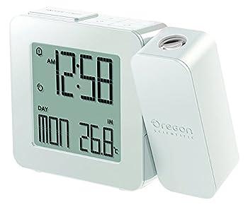 Oregon Scientific RM338PA_W Model RM338 PROJI Projection Atomic Alarm Clock Indoor Temperature Calendar Alarm Snooze Functions Dual Alarm White
