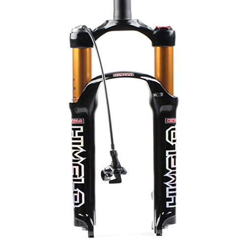 MZP MTB Aria Forcella Ammortizzata per Bici 26 27,5 29 Pollici Lega Magnesio Forcella Anteriore per Bicicletta Dritto 1-1 8  QR Ruota 1720g (Color : B-Bright, Size : 27.5in)