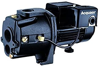 Acquaer 1/2 HP Dual-Voltage Durable Cast iron Convertible Deep WellJet Pump With Injector kit