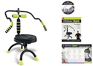 AB Doer 360 Transform Your Entire Body with Abdobics Ab Workout and Exercise Machine (DVD and Nutrition Guidebook Included)