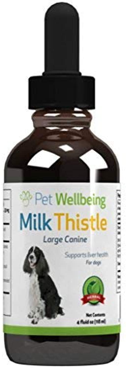 Pet Wellbeing  Milk Thistle for Dogs  Essential Detoxification Support for Canines with Liver Dysfunction (4 Ounce)