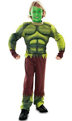 EUROCARNAVALES Disfraz de Hulk musculoso - Niño, de 5 a 6 años