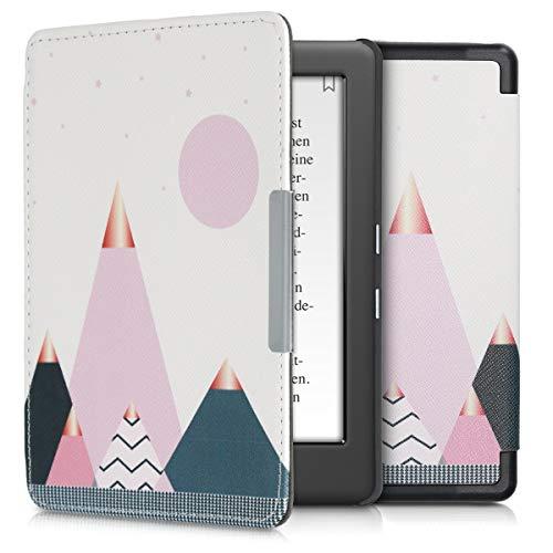 kwmobile Custodia compatibile con Kobo Glo HD/Touch 2.0 - Cover in simil pelle magnetica Flip Case per eReader oro rosa/blu/rosa