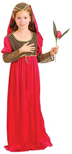 Bristol Novelty Juliet Costume Medium Child Girl Age 5 - 7 Years