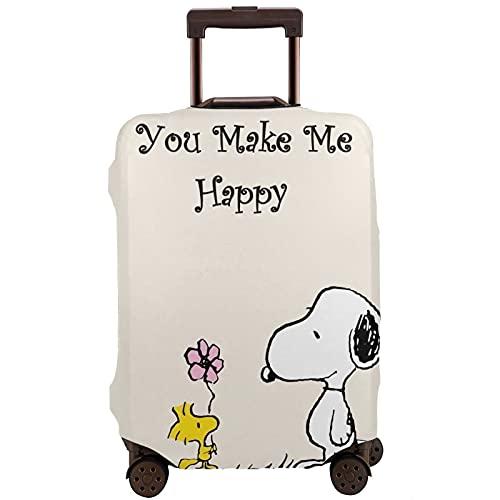 Snoopy Travel Maleta Protector Resistente a los arañazos, a prueba de polvo, elástico y flexible para equipaje de viaje, White (Blanco) - 364504006
