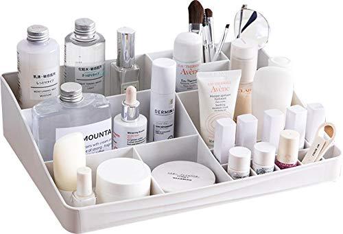 Cq Organizador de Maquillaje de acrílico y 20 Rejillas como Organizador de pintalabios y Soporte para brochas de Maquillaje, Paquete de 1