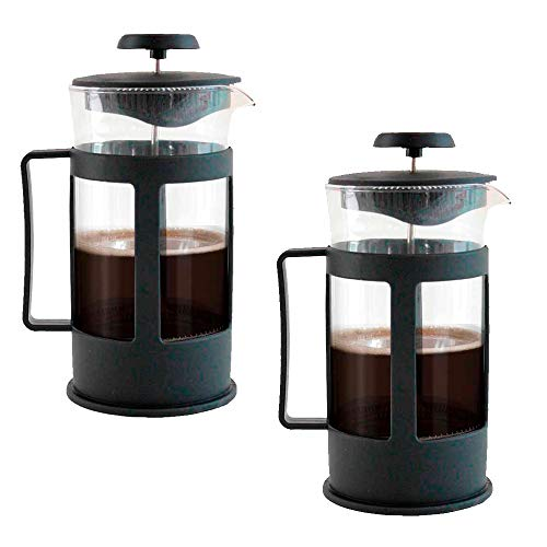 Paquete 2 Cafeteras Prensa Francesa de 850ml vidrio tipo embolo french press ideal para compartir un cafe gourmet para 6 tazas