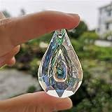 ACEACE 2 unids Arco Iris Cristal Colgante Colgante araña Prisma Partes lámpara Perlas Cadena casero Boda decoración (Color : AB Color, Size : 38mm 2pcs)