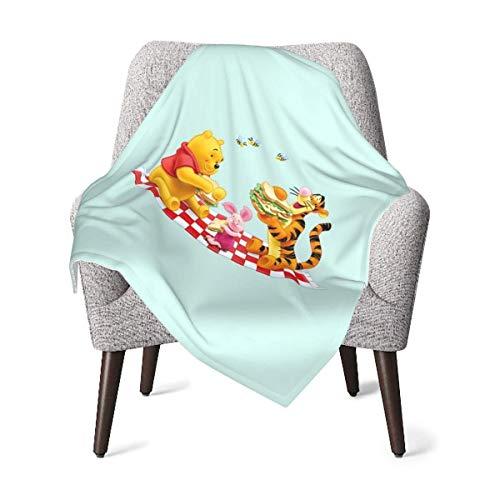 Hdadwy Manta cómoda para bebé, manta suave y cálida de Winnie The Pooh para cochecito recién nacido para viajes al aire libre