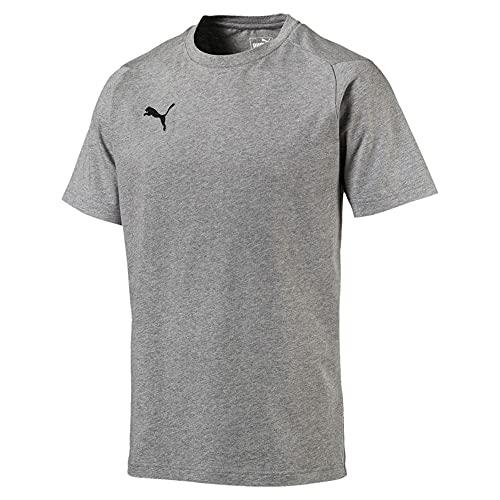 Puma Liga Casuals Tee T Shirt Homme, Medium Gray Heather Black, 3XL