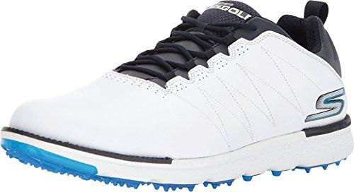 Skechers Men's Go Golf Elite 3 Golf Shoe,White/Navy,14 M US
