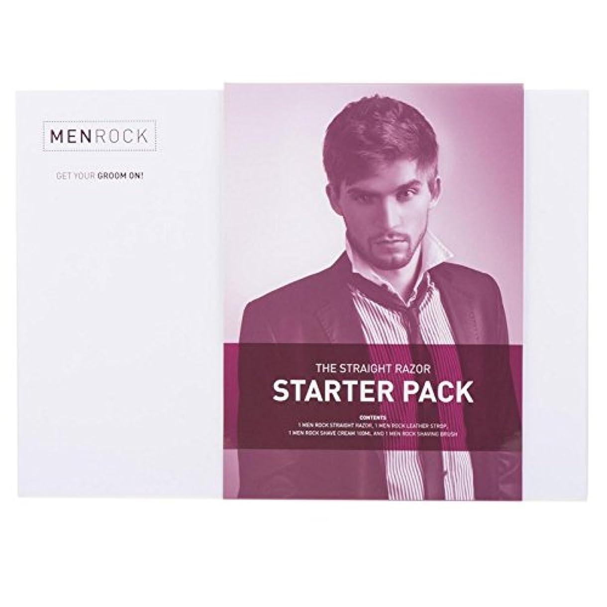 平日組み合わせるブラザーMen Rock Straight Razor Starter Pack - 男性はストレートかみそりのスターターパックを揺すります [並行輸入品]