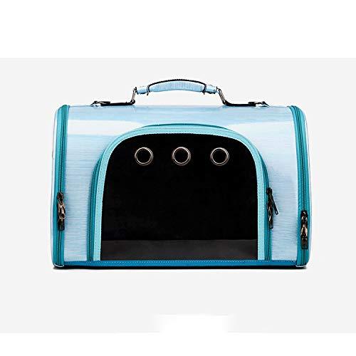 El Nuevo Bolso Diagonal De La Bolsa De Gato, Bolso Transparente De Mascotas, Diseño Transpirable, Adecuado Para Perros Pequeños Y Gatos, Múltiples Colores, Portadores De Mascotas, Portátiles,Azul