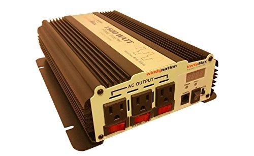 VertaMax Modified 1500 Watt (3000W Surge) 12V Power Inverter DC to 115 AC Car, Solar, Off-Grid, RV, Back Up Power
