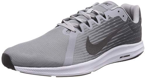 Nike Herren Downshifter 8 Laufschuhe, Grau (Wolf Grey/metallic Dark Grey/cool Grey/black/white) , 44 EU