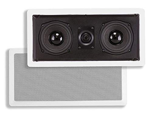 Monoprice Aramid Fiber in-Wall Center Channel Speaker - Dual 5.25 Inch (Single) with Titanium Tweeters - Caliber Series