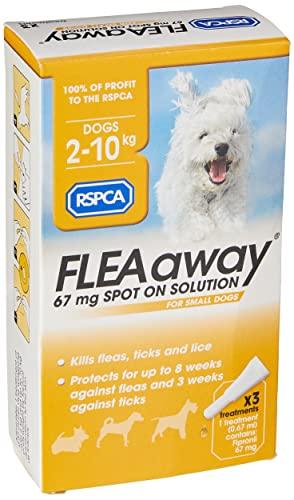 RSPCA FleaAway Spot On Solución para perros pequeños, 67 mg