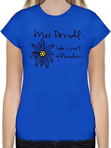 Oktoberfest Damen - Dirndl net g'funden - Shirt statt Dirndl - XXL - Royalblau - Dirndl hellgrün - L191 - Tailliertes Tshirt für Damen und Frauen T-Shirt