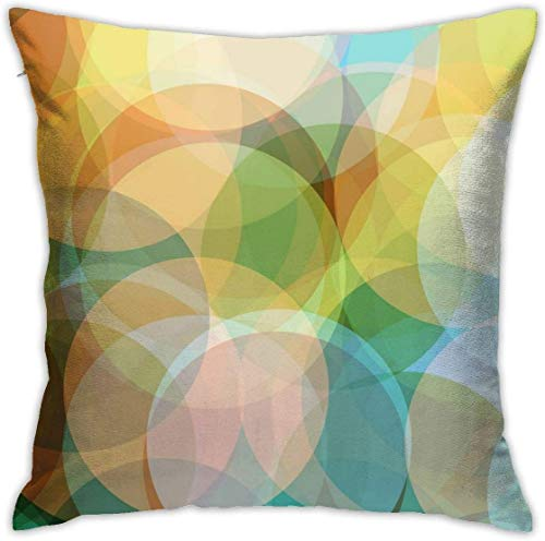 QISHUO Colorful Abstract Background Throw Pillow Cover Case Pillow Sofa Cushion Bed Home Decoration 18'x18'