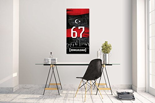 Wandtattoo Wandsticker Aufkleber Zonguldak 67 Plaka Türkiye Grösse: 120 x 60 cm