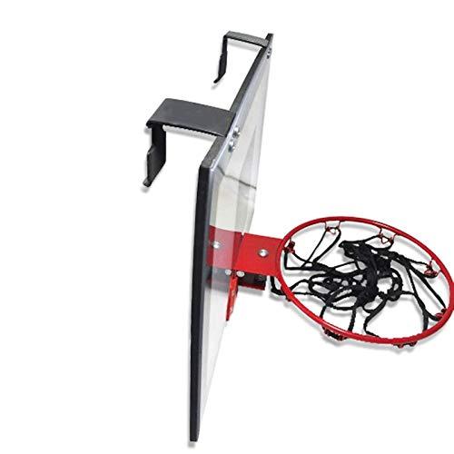 Durable Canasta de Baloncesto para Niños Rim Transparent Wall Tablero de Baloncesto Fácil de Colgar Baloncesto Interior Hoop al Aire Libre Cesta Pequeña Completo Accesorios